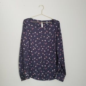Dainty floral printed blouse with a silky feel- xl